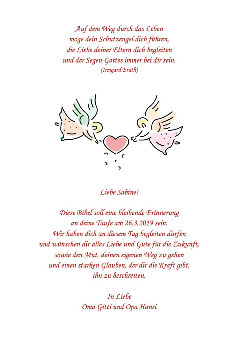 """Schutzengelspruch: """"Auf dem Weg durch das Leben"""""""