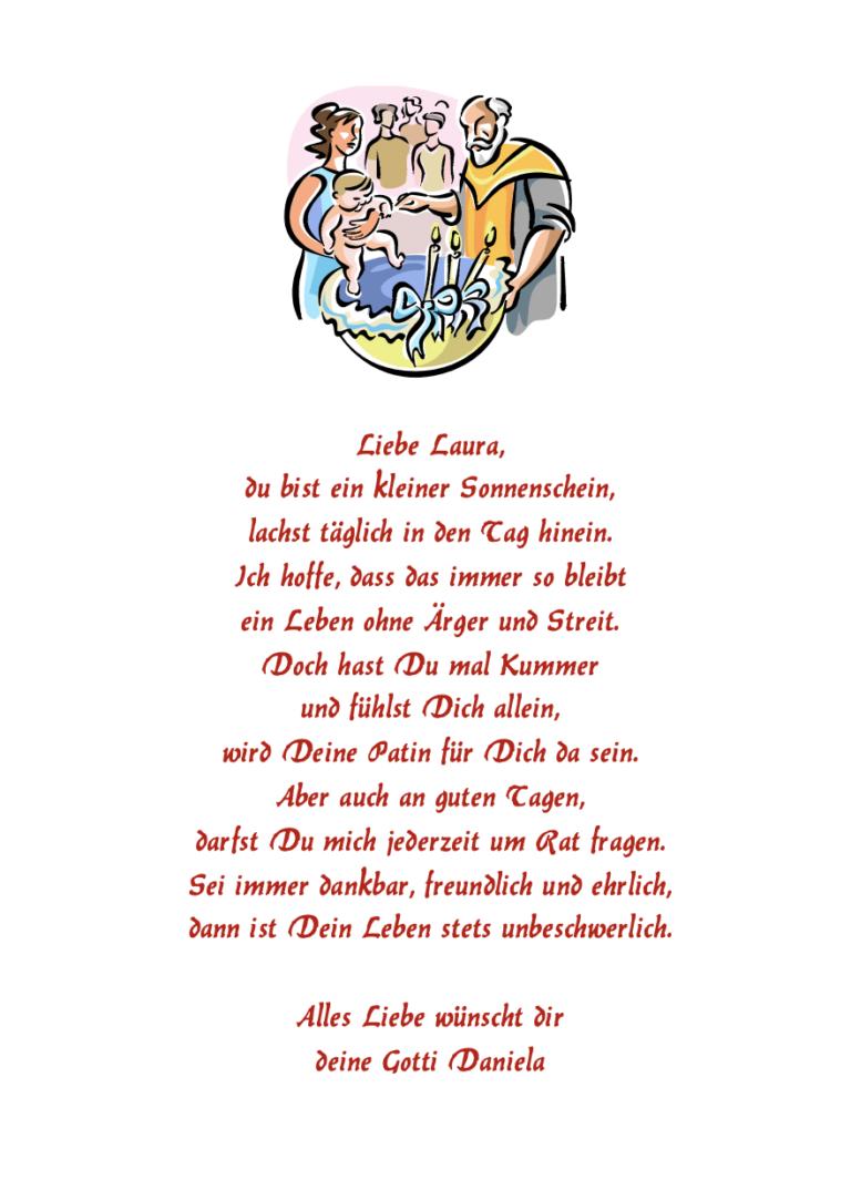 Taufbibel Zusatzseite mit Taufgrafik