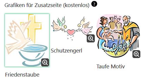3 Taufmotive zur Auswahl