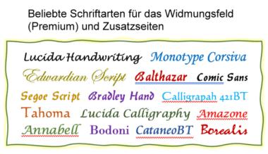 beliebte Schriftarten