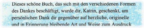 """Danke Buch Textausschnitt: Personalisierung in der """"Du"""" Form (""""Duzen"""")"""