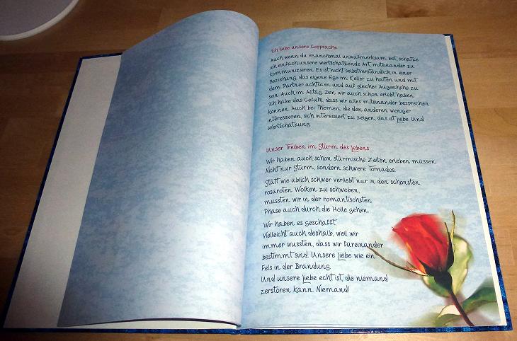 Liebeserklärung mit dem Danke Buch